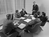 6 Executive Businessmen around Conference Table Board Meeting