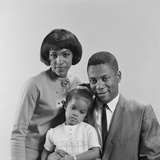 African-American Family Portrait Father Mother Daughter