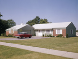 Suburban Brick Home with Car Driveway Near Dayton Ohio