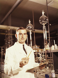 Scientist Conducting a Titration Experiment