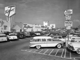 1950s Shopping Center Parking Lot
