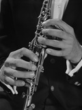 Male Hands Playing Clarinet