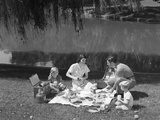 1950s Family Mother Father Son Daughter Picnicking