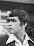 Portrait Profile Man Wearing Aviator Sunglasses