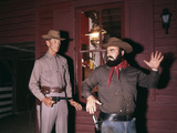 1960s-1970s Western Sheriff Arrests Bearded Cowboy About to Draw Gun