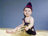 1960s Baby Dressed in Scottish Costume Smiling