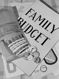 Still Life Family Budget Money Currency Cash Coins Bills Payroll Envelope
