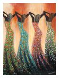 Dance of the Summer Solstice Reproduction d'art par Monica Stewart