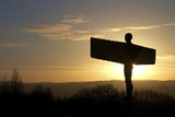 Halo over the Angel of the North by Antony Gormley