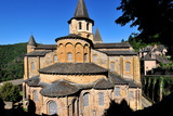 Sainte-Foy De Conques Abbey Church  Conques  Aveyron  Midi-Pyrenees  France  Europe