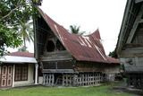 Batak Toba Tribal Rural Village Houses with Contemporary Extensions on Samosir Island in Lake Toba