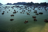 Boats in Ha-Long Bay  UNESCO World Heritage Site  Vietnam  Indochina  Southeast Asia  Asia