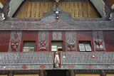 Ornate Traditional Batak Painted Carvings on Large Batak Style Catholic Church