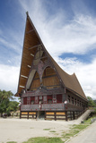 Large Batak Style Catholic Church with Beautiful Traditional Batak Painted Carving