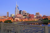 Nashville Skyline and Shelby Pedestrian Bridge