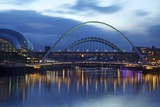 Gateshead Quays with Sage Gateshead and Millennium Bridge at Night