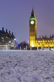 Houses of Parliament and Big Ben in Snow