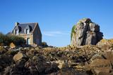Pors Hir Harbour  Cote De Granit Rose  Cotes D'Armor  Brittany  France  Europe