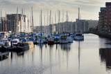 Boats Moored in the Newly Completed Marina in Portishead  Somerset  England  United Kingdom  Europe