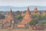 View over the Temples of Bagan Swathed in Early Morning Mist