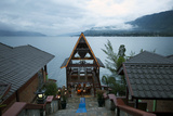 Evening View across Lake Toba from Batak Toba Style Hotel on Samosir Island