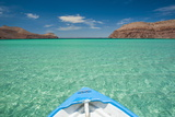 Little Boat in the Turquoise Waters at Isla Espiritu Santo  Baja California  Mexico  North America