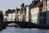 Old Buildings on Canal  Bruges  West Flanders  Belgium  Europe