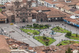 Cuzco Cityscape with Plaza De Armas from Hill Above City