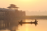Fishermen on Taungthaman Lake in Dawn Mist