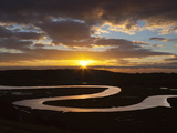 Cuckmere River Meanders at Sunset