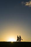 Tourists in Backlight Walking to the Castle of San Felipe Del Morro