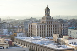 Rooftops of Havana Towards the Bacardi Building from the 9th Floor Restaurant of Hotel Seville