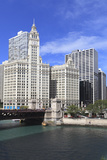 The Wrigley Building and Chicago River  Chicago  Illinois  United States of America  North America