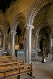Interior of the 12th Century Norman Romanesque Galilee Chapel