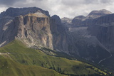 The Dramatic Sass Pordoi Mountain in the Dolomites Near Canazei  Trentino-Alto Adige  Italy  Europe