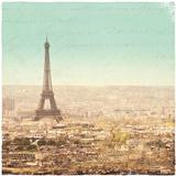 Eiffel Landscape Letter Blue II