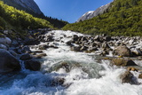Snow-Melt Waterfall in Tracy Arm-Ford's Terror Wilderness Area