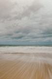 Tidal Motion on Carbis Bay Beach  St Ives  Cornwall  England  United Kingdom  Europe