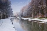 The Canal De Berry after a Snow Shower  Loir-Et-Cher  Centre  France  Europe