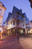 An Old House in Vieux Tours with Christmas Lights  Tours  Indre-Et-Loire  France  Europe