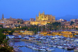 Cathedral and Harbour  Palma  Mallorca  Spain  Europe
