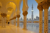 Sheikh Zayed Bin Sultan Al Nahyan Mosque at Dusk  Abu Dhabi  United Arab Emirates  Middle East