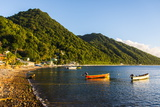 Fishing Boats in the Bay of Soufriere  Dominica  West Indies  Caribbean  Central America