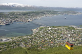 Tromso  Seen from Mount Storsteinen  Northern Norway  Scandinavia  Europe