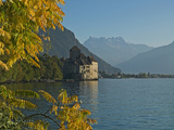 The Castle of Chillon  on Lake Geneva  Montreux  Canton Vaud  Switzerland  Europe