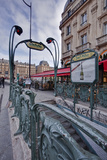 The Art Nouveau Metro Entrance at Saint Michel  Paris  France  Europe