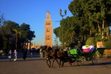 Koutoubia Mosque  UNESCO World Heritage Site  Marrakech  Morocco  North Africa  Africa