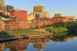 Cumberland River and Nashville Skyline  Tennessee  United States of America  North America