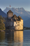 The Castle of Chillon  on Lake Geneva  Montreux  Canton Vaud  Switzerland  Europe