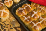 Hot Cross Buns in a Baking Tin  Easter Speciality  United Kingdom  Europe